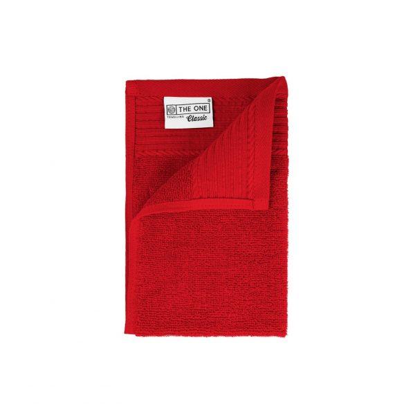 30 x 50 Gastendoeken 500 grams badstof rood