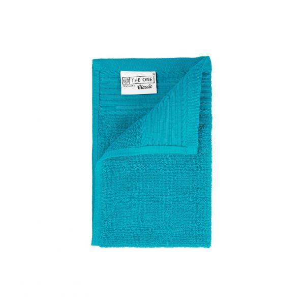 30 x 50 Gastendoeken 500 grams badstof azuurblauw turkoois