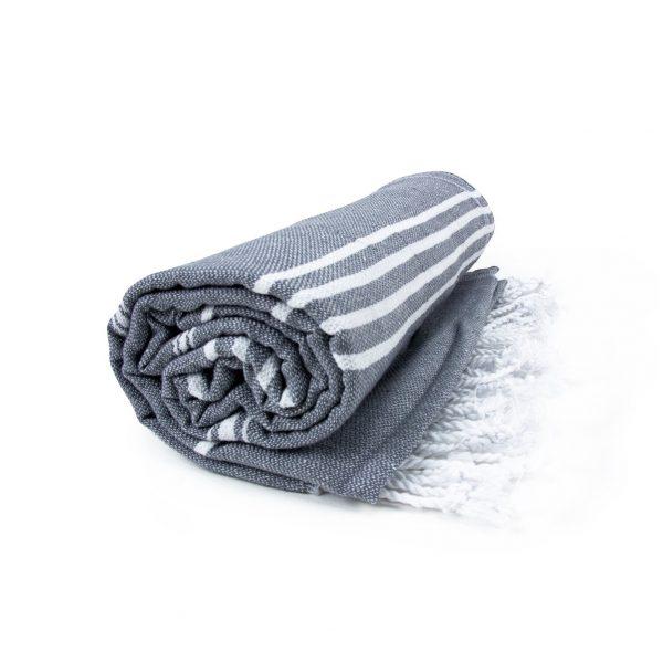 HAMAM handdoek 100 x 180 cm Sultan donkergrijs