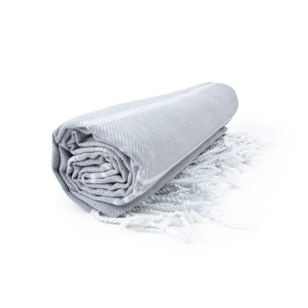 HAMAM handdoek 100 x 180 cm Sultan licht grijs