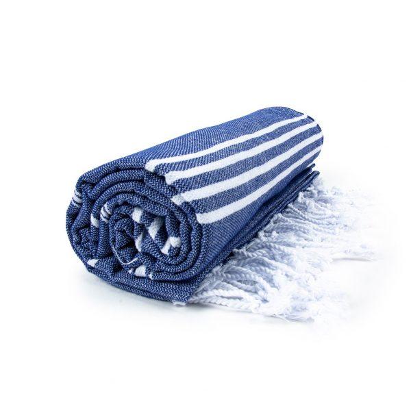 HAMAM handdoek 100 x 180 cm Sultan donkerblauw