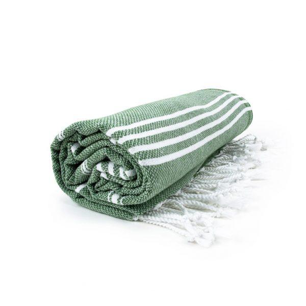 HAMAM handdoek 100 x 180 cm Sultan olijfgroen