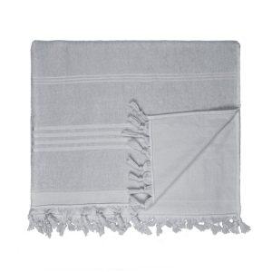 HAMAM handdoek 100 x 165 cm Terry antracite grijs