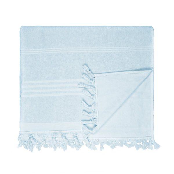 HAMAM handdoek 100 x 165 cm Terry licht blauw