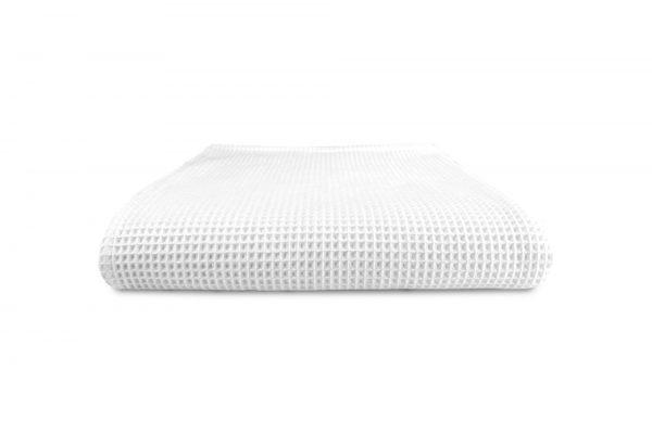 Wafel handdoek wit 100 x 150 cm