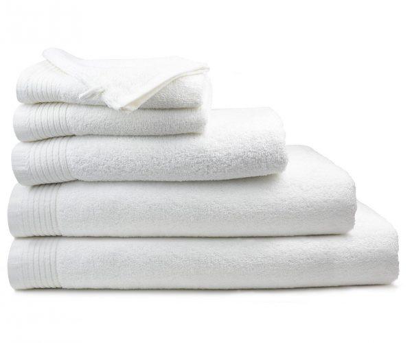 Luxe handdoek douchelaken 70 x 140 wit white