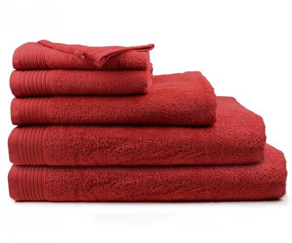 Luxe handdoek 70 x 140 bordeauxrood burgundy