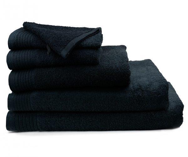 Luxe handdoek douchelaken 70 x 140 zwart black