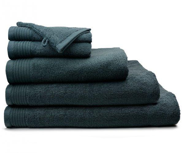 Luxe handdoek douchelaken 70 x 140 donkergrijs antracite grey