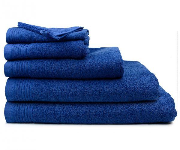 Luxe handdoek douchelaken 70 x 140 donkerblauw dark blue