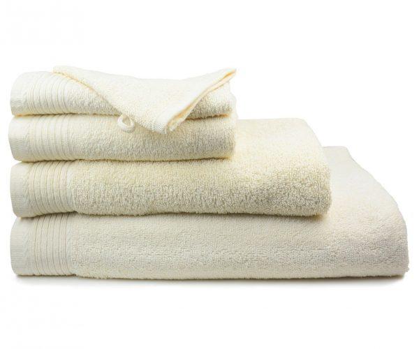 Luxe handdoek douchelaken 70 x 140 ivory licht beige