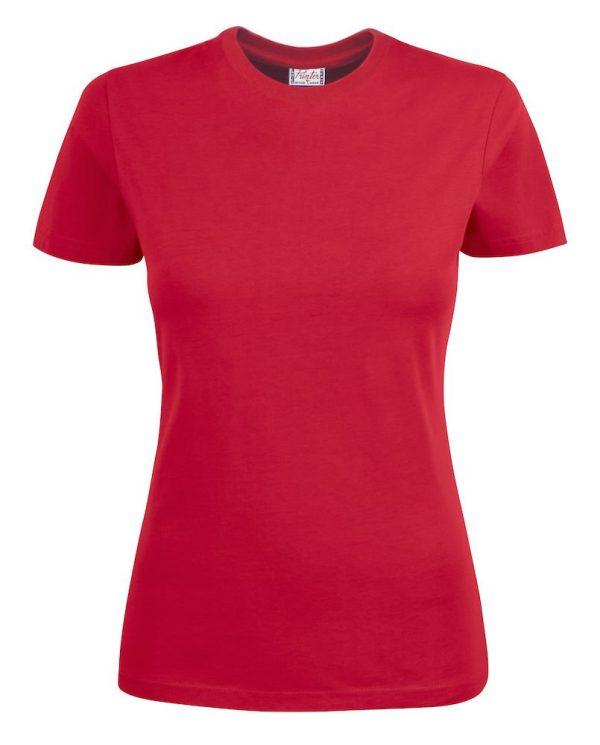 Heavy T-Shirt dames 2264014 rood