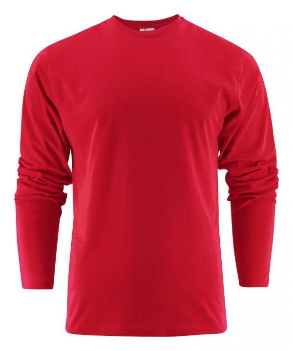 Heavy T-Shirt met lange mouwen heren (unisex) 2264016 rood