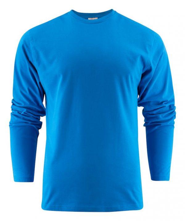 Heavy T-Shirt met lange mouwen heren (unisex) 2264016 oceaanblauw
