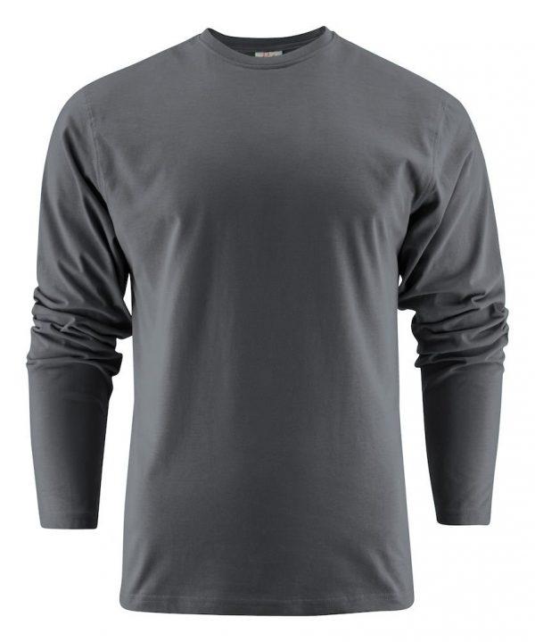 Heavy T-Shirt met lange mouwen heren (unisex) 2264016 staalgrijs