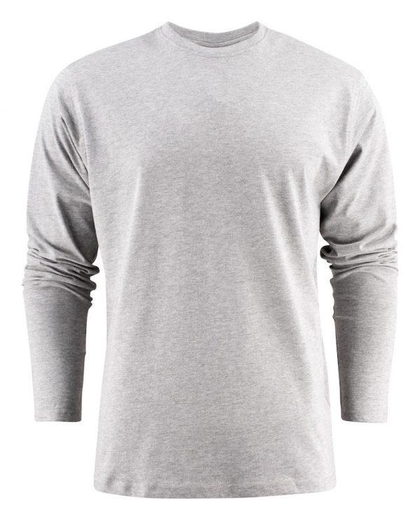 Heavy T-Shirt met lange mouwen heren (unisex) 2264016 grijs melee