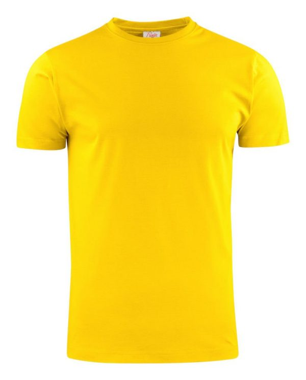 Heavy T-Shirt RSX heren Printer 2264020 citroen geel