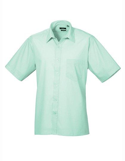 PW202 Overhemd korte mouwen aqua blauw