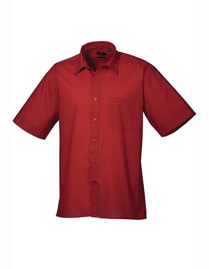 PW202 Overhemd korte mouwen burgundy
