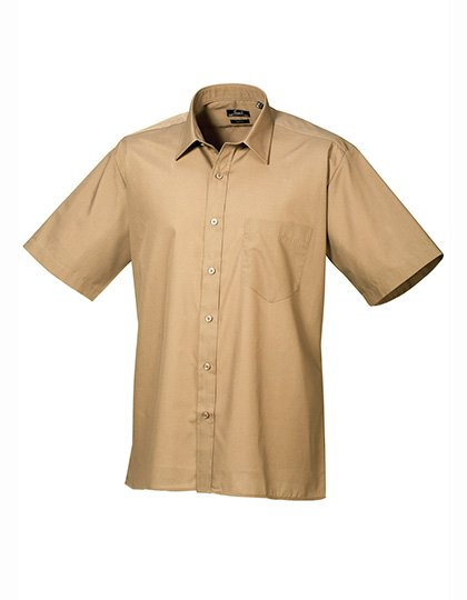 PW202 Overhemd korte mouwen khaki safari