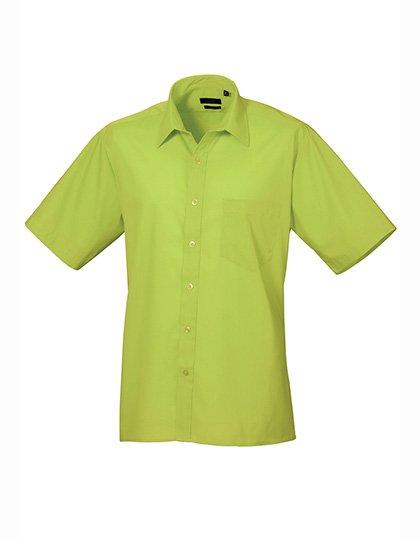 PW202 Overhemd korte mouwen lime