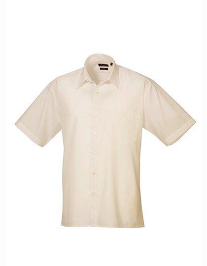 PW202 Overhemd korte mouwen beige natural