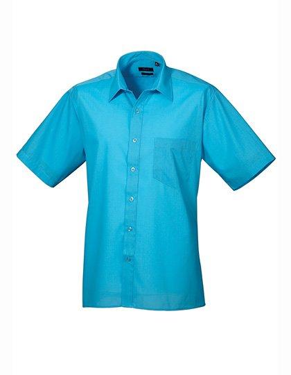 PW202 Overhemd korte mouwen turkoois