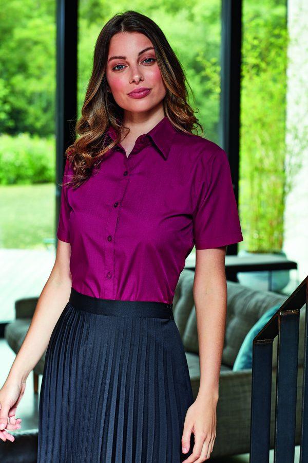 PW302 blouse korte mouwen dames XXS t/m 6XL!