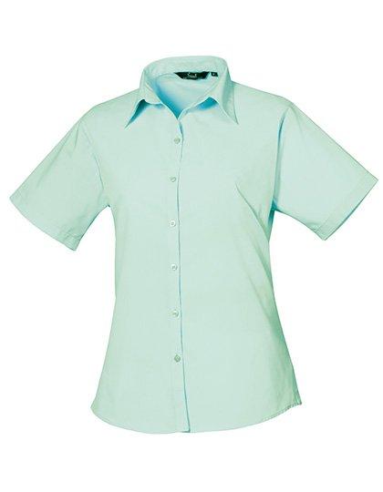 PW302 blouse korte mouwen dames aqua