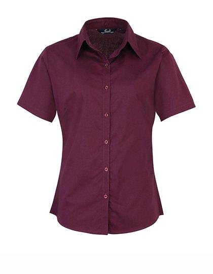 PW302 blouse korte mouwen dames aubergine