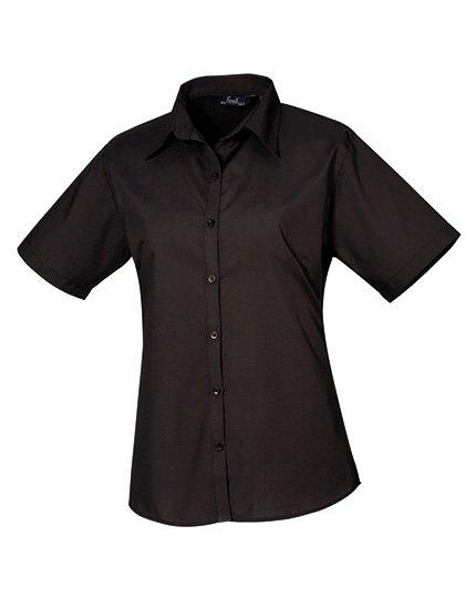 PW302 blouse korte mouwen dames zwart