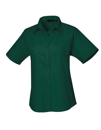 PW302 blouse korte mouwen dames donkergroen