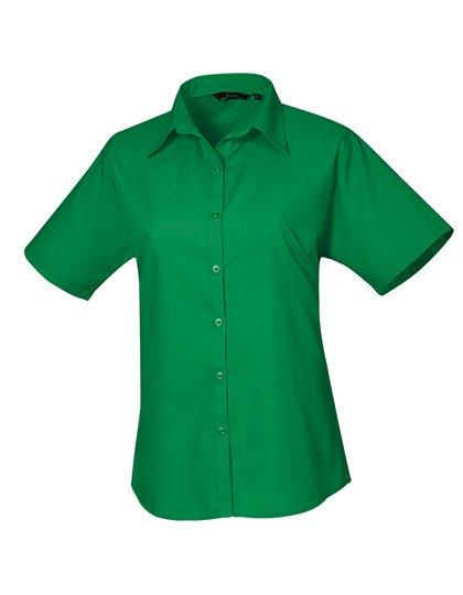 PW302 blouse korte mouwen dames emerald