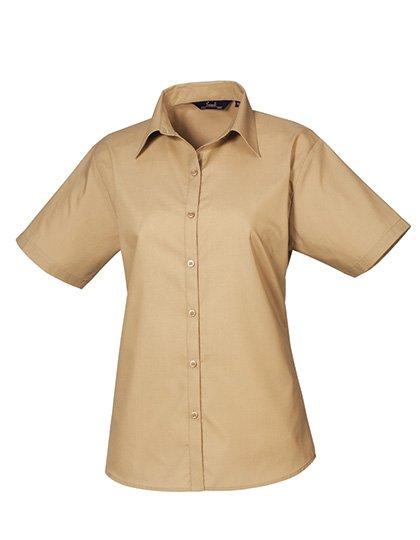 PW302 blouse korte mouwen dames khaki