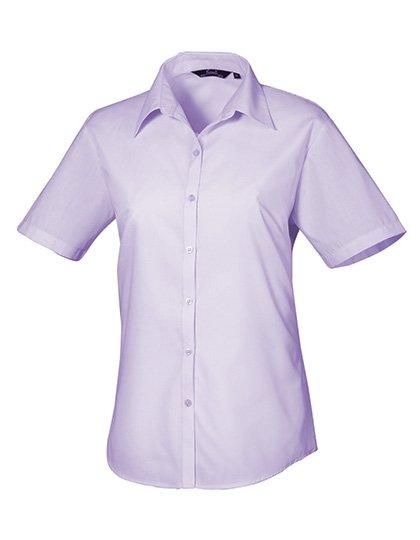 PW302 blouse korte mouwen dames lila