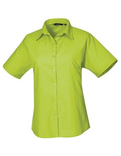 PW302 blouse korte mouwen dames lime