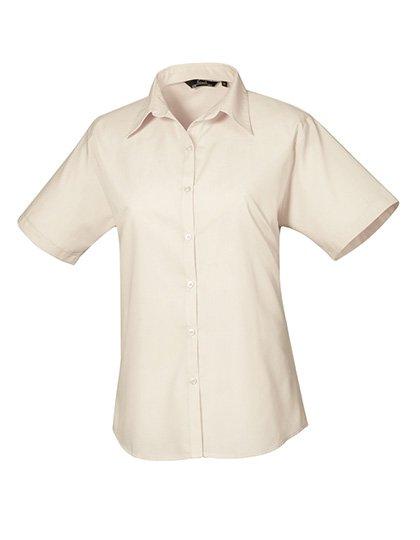 PW302 blouse korte mouwen dames beige naturel