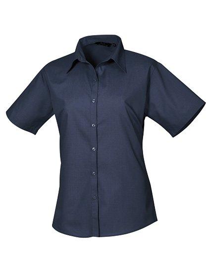 PW302 blouse korte mouwen dames navy