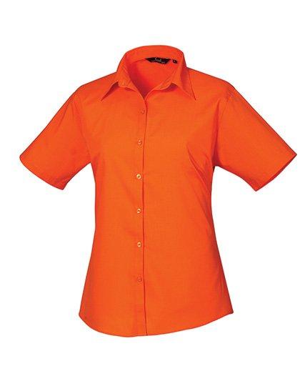 PW302 blouse korte mouwen dames oranje