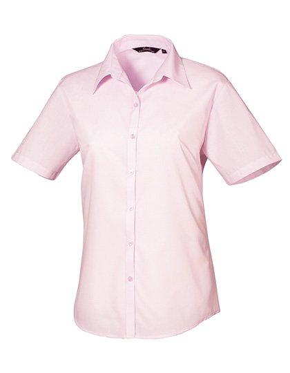 PW302 blouse korte mouwen dames lichtroze