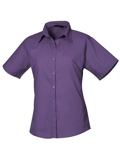 PW302 blouse korte mouwen dames paars