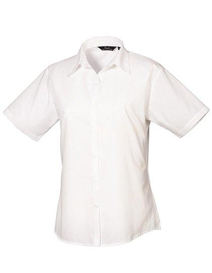 PW302 blouse korte mouwen dames wit