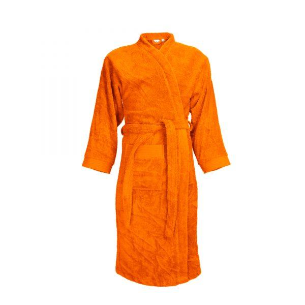 Badjas met sjaalkraag kleur oranje
