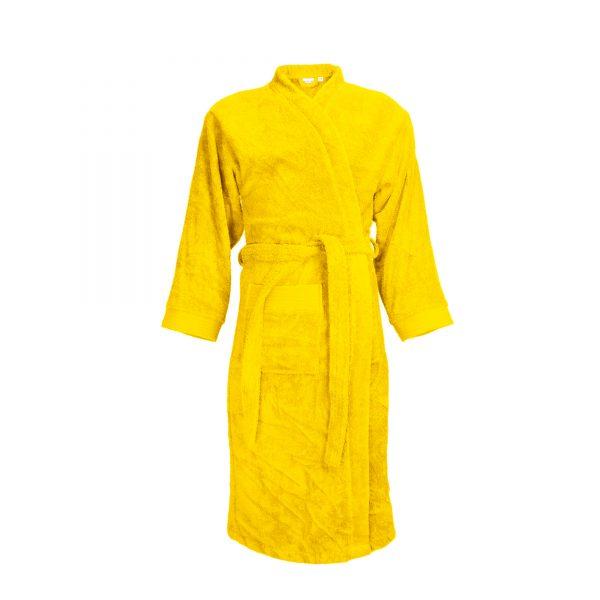 Badjas met sjaalkraag kleur geel